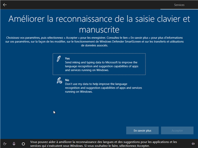 Windows 10 vie privée oobe