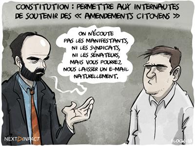 Neutralité du Net et amendements citoyens dans les visées constitutionnelles des sénateurs PS