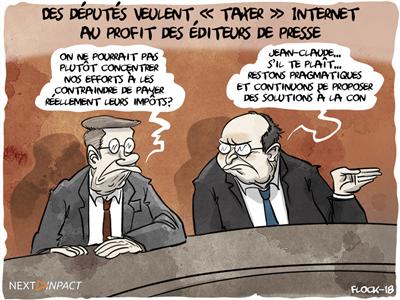 Des députés veulent « taxer » Internet au profit des éditeurs de presse
