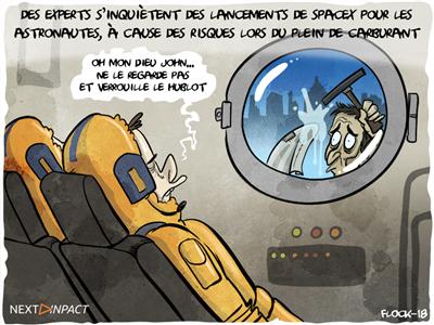 Des experts s'inquiètent des lancements de SpaceX, qui pourraient être dangereux pour les astronautes