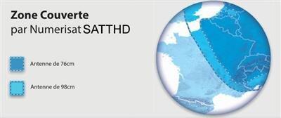 Carte couverture Avanti internet satellite