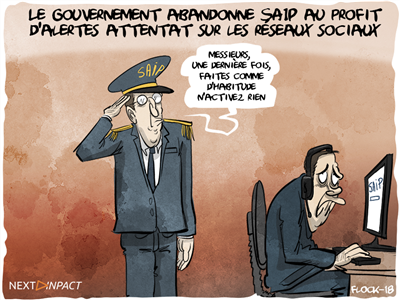 Le gouvernement abandonne SAIP au profit d'alertes attentat sur les réseaux sociaux