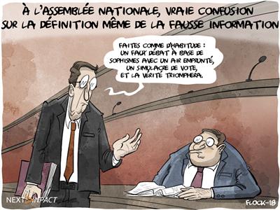 À l'Assemblée nationale, vraie confusion sur la définition même de la fausse information