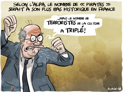 Selon l'ALPA, le nombre de « pirates » serait à son plus bas historique en France depuis 2010