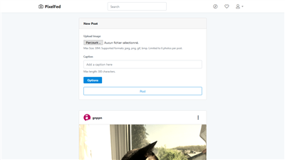PixelFed profil utilisateur