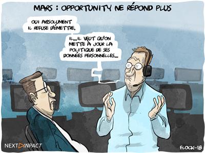 Mars : pris dans une tempête de sable, Opportunity ne répond plus et sa santé inquiète
