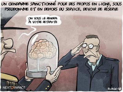 Un gendarme sanctionné pour des propos en ligne, sous pseudonyme et en dehors du service