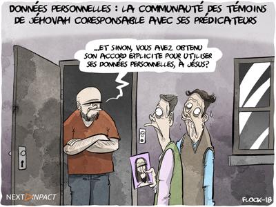 Données personnelles : la communauté des témoins de Jéhovah coresponsable avec ses prédicateurs