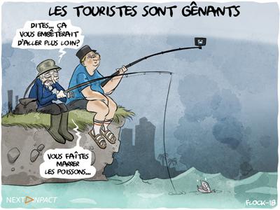 Les touristes sont gênants