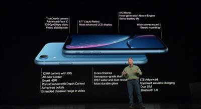 Conférence Apple 12 septembre iPhone Xr