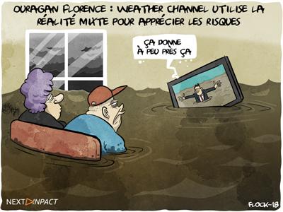 Ouragan Florence : quand Weather Channel utilise la technologie pour mieux se rendre compte des risques