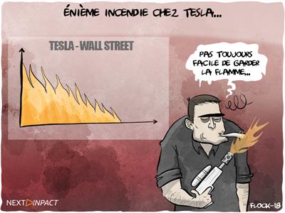 Encore un incendie dans une usine Tesla