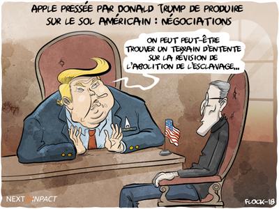 Apple pressée par Donald Trump de produire sur le sol américain
