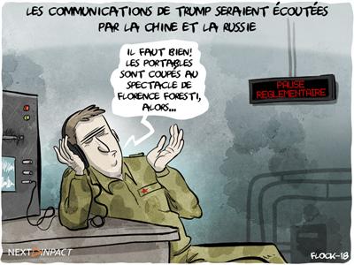 Les communications de Donald Trump seraient espionnées par les Chinois et Russes