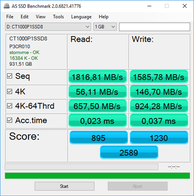 Crucial P1 1 To Benchmarks
