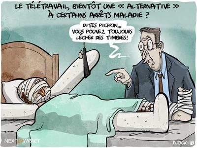 Le télétravail, bientôt une « alternative » à certains arrêts maladie ?