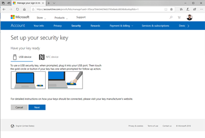 Microsoft Edge FIDO2