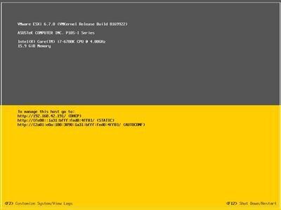 VSphere Hypervisor ESXi Installation