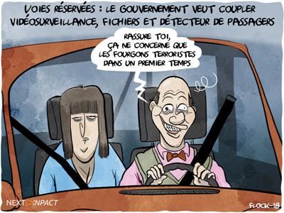 Voies réservées : le gouvernement veut coupler vidéosurveillance, fichiers et détecteur de passagers