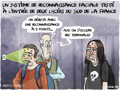 Un système de reconnaissance faciale testé à l'entrée de deux lycées du Sud de la France