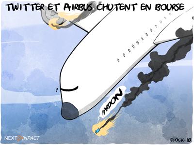 Airbus et Twitter chutent en bourse