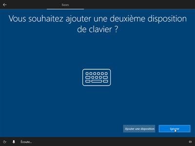 Windows 10 OOBE configuration initiale