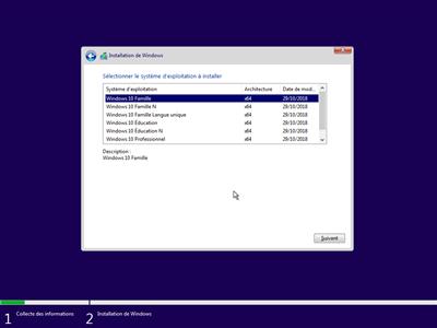 Windows 10 installation