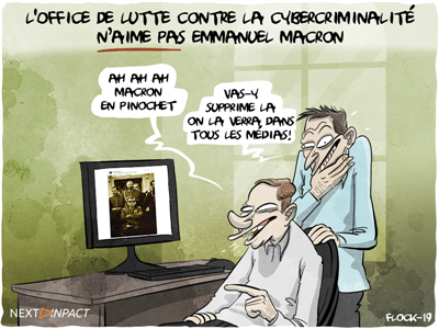 Quand l'Office de lutte contre la cybercriminalité exige le retrait d'un photomontage visant Macron