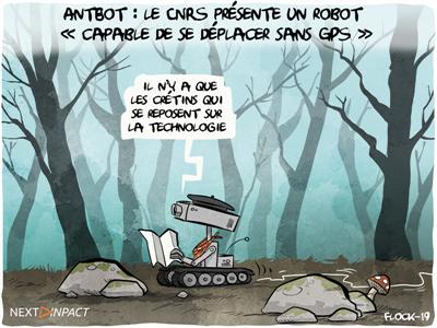 AntBot : le CNRS présente un robot « capable de se déplacer sans GPS »