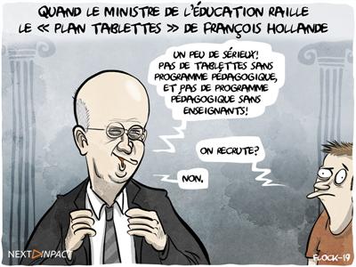 Quand le ministre de l'Éducation raille le « plan tablettes » de François Hollande