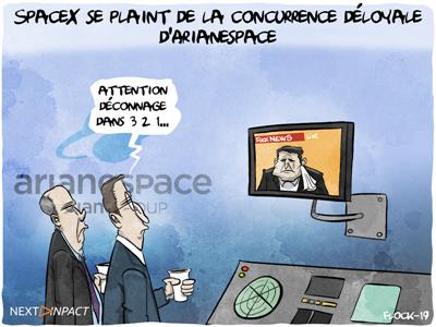 SpaceX se plaint de la concurrence déloyale d'Arianespace