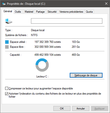 windows 10 nettoyage