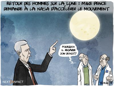 Retour des hommes sur la Lune : Mike Pence demande à la NASA d'accélérer le mouvement