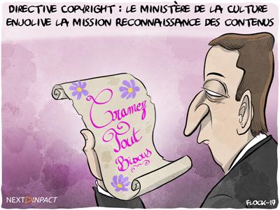 Directive Copyright : le ministère de la Culture enjolive la mission Reconnaissance des contenus