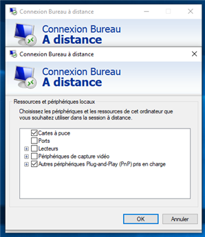 Windows 10 Bureau à distance