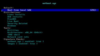 PXE Netboot.xyz