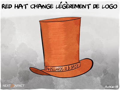 Red Hat change légèrement de logo