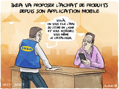 Ikea va proposer l'achat de produits depuis son application mobile