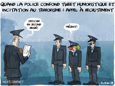 Quand les policiers confondent tweet humoristique et incitation au terrorisme