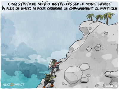 Cinq stations météo installées sur le mont Everest, dont une à plus de 8 400 mètres