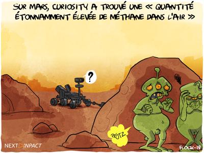 Sur Mars, Curiosity a trouvé une « quantité étonnamment élevée de méthane dans l'air »