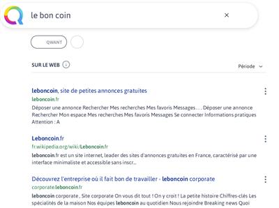 Qwant Le Bon Coin