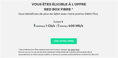 RED by SFR test éligibilité