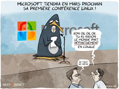 Microsoft tiendra en mars prochain sa première… conférence Linux