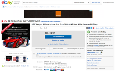 eBay Leagoo S8