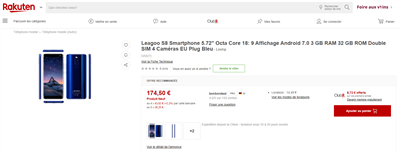 Rakuten France Leagoo S8