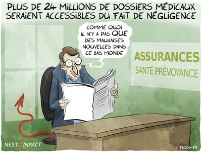 Selon un rapport, plus de 24 millions de dossiers médicaux seraient accessibles, 47 500 en France