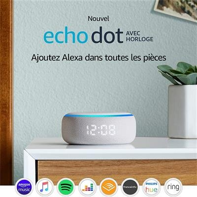 Echo Dot horloge