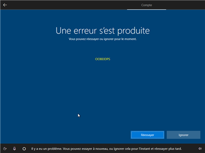 Windows 10 création compte