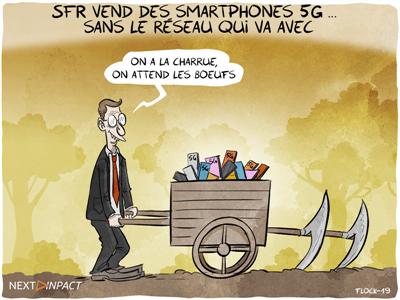 SFR vend des smartphones 5G... sans le réseau qui va avec